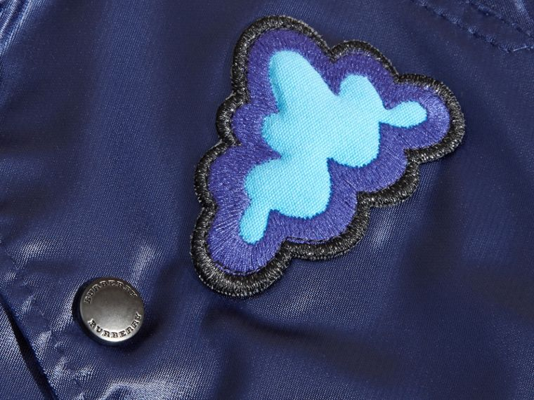 Weather Appliqué Satin Bomber Jacket - cell image 1