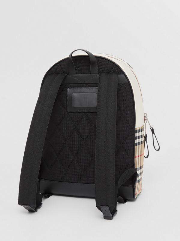 Monogram Motif Vintage Check ECONYL® Backpack in Archive Beige - Children | Burberry - cell image 2
