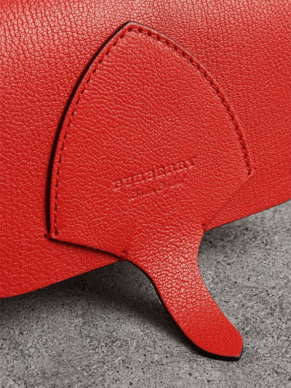 Equestrian Shield Leather Wallet with Detachable Strap in Bright Red - Women | Burberry United Kingdom - cell image 1