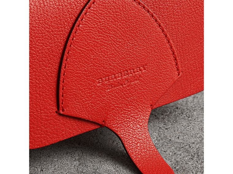 Equestrian Shield Leather Wallet with Detachable Strap in Bright Red - Women | Burberry - cell image 1