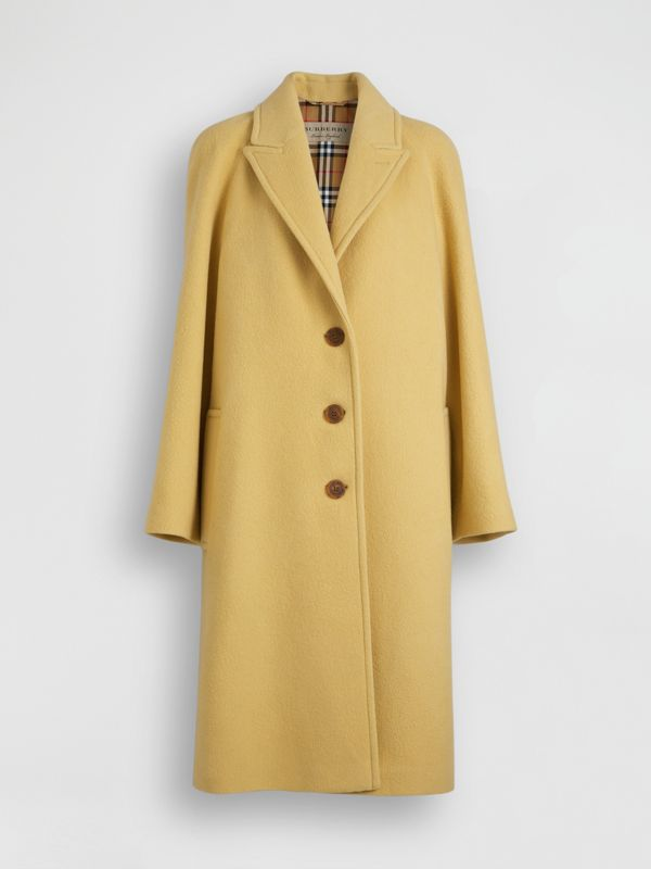 Wool Blend Tailored Coat in Camomile - Women | Burberry - cell image 2