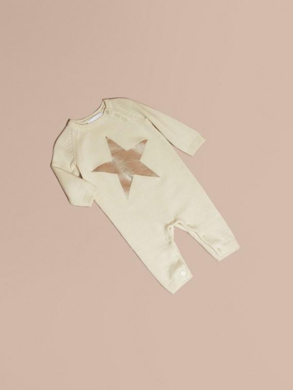 Star Print Cashmere Jumpsuit