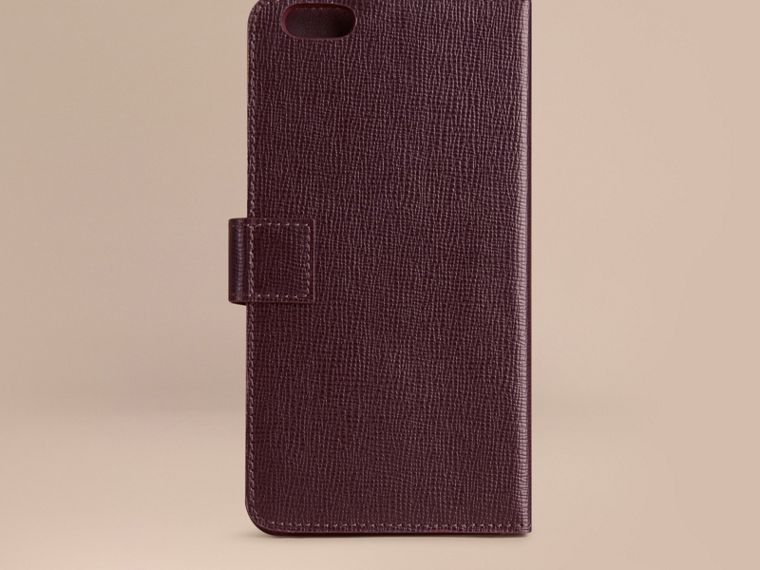 Wine London Leather iPhone 6 Plus Flip Case Wine - cell image 2