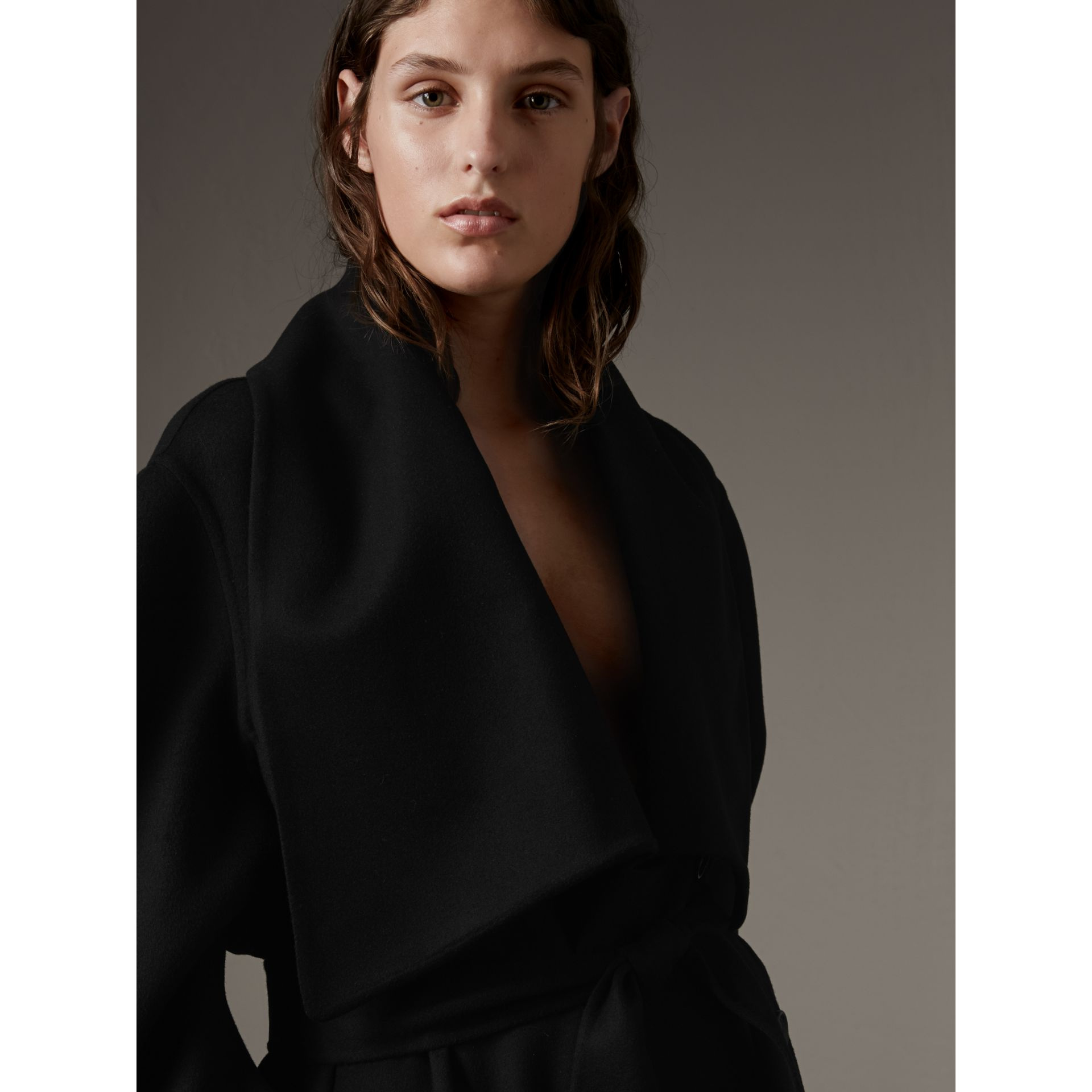Double-faced Wool Cashmere Sculptural Coat - gallery image 2