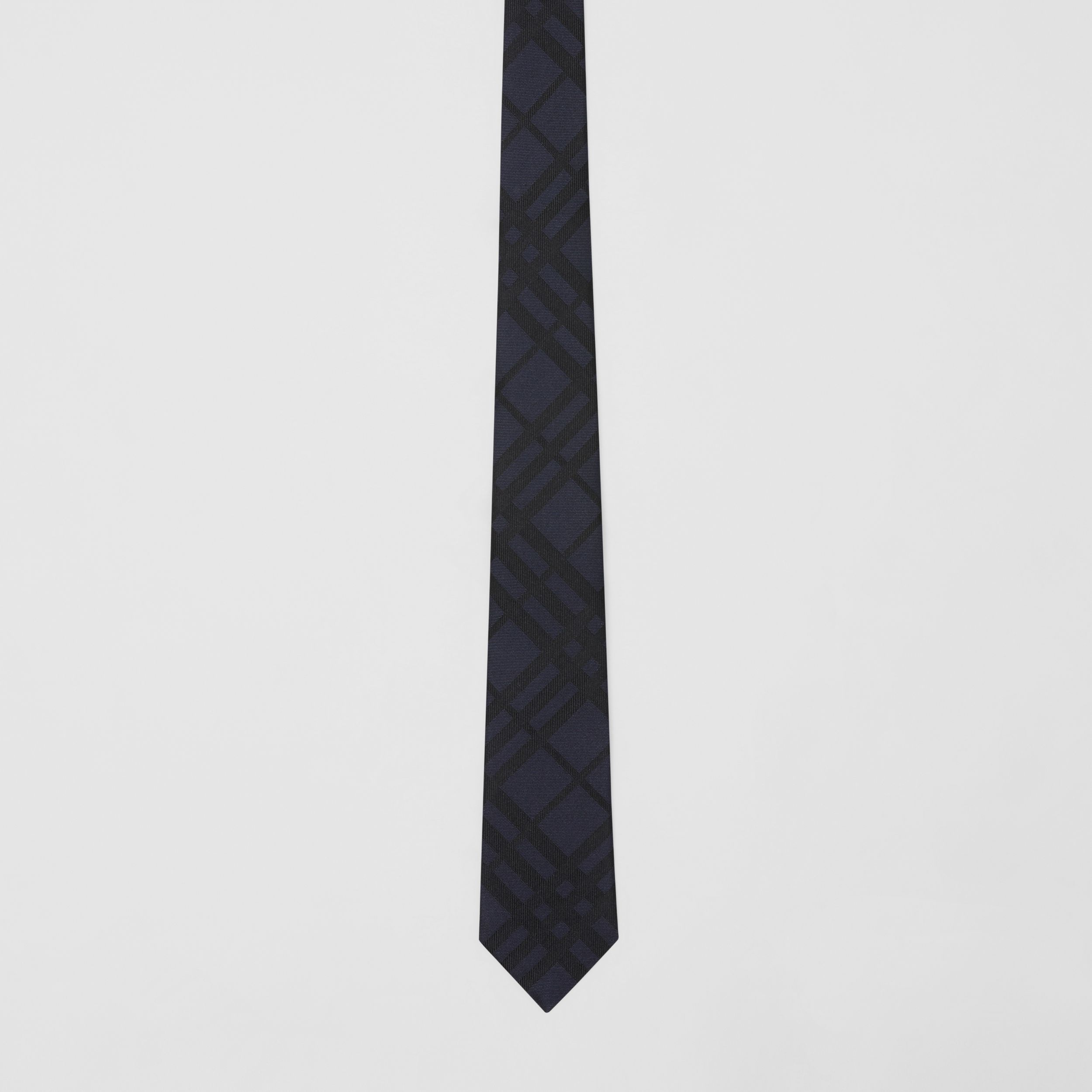 Classic Cut Check Silk Jacquard Tie in Lapis Blue - Men | Burberry Australia - 4
