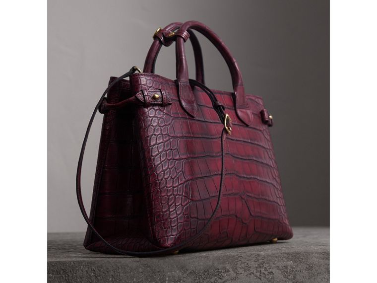The Medium Banner in Alligator in Elderberry - Women | Burberry - cell image 4