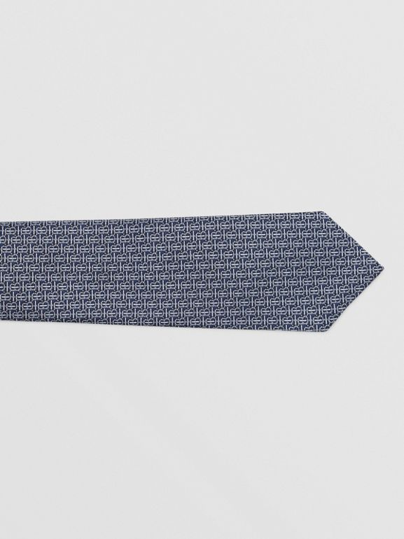 Classic Cut Monogram Silk Jacquard Tie in Sky Blue - Men | Burberry - cell image 1