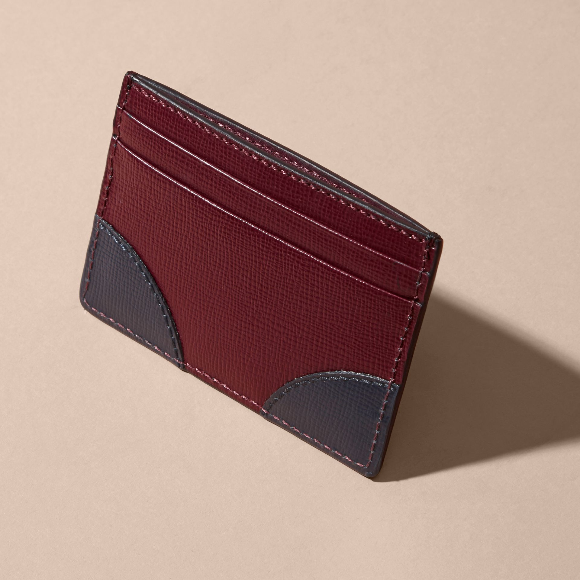 Contrast Corner London Leather Card Case - gallery image 3