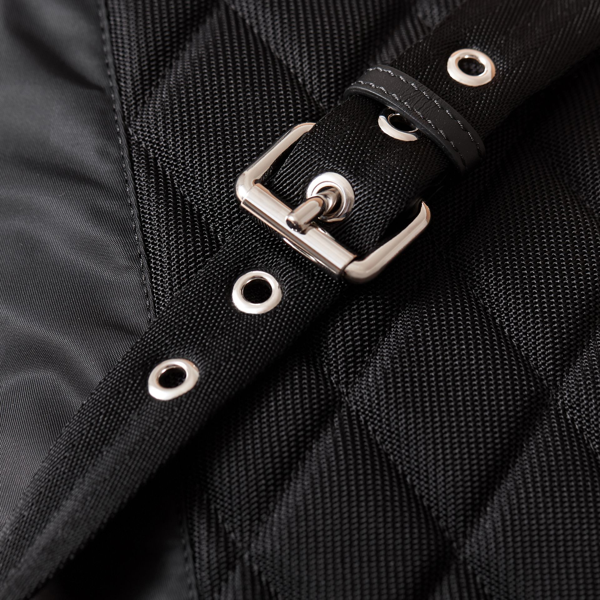 The Medium Rucksack in Technical Nylon with Pallas Heads Appliqué - gallery image 6