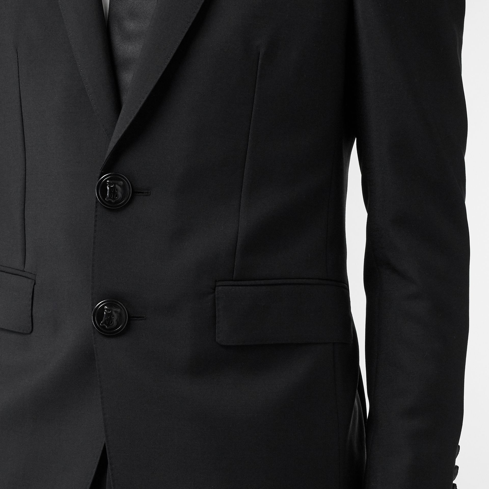 English Fit Wool Mohair Tailored Jacket in Black - Men | Burberry - gallery image 4