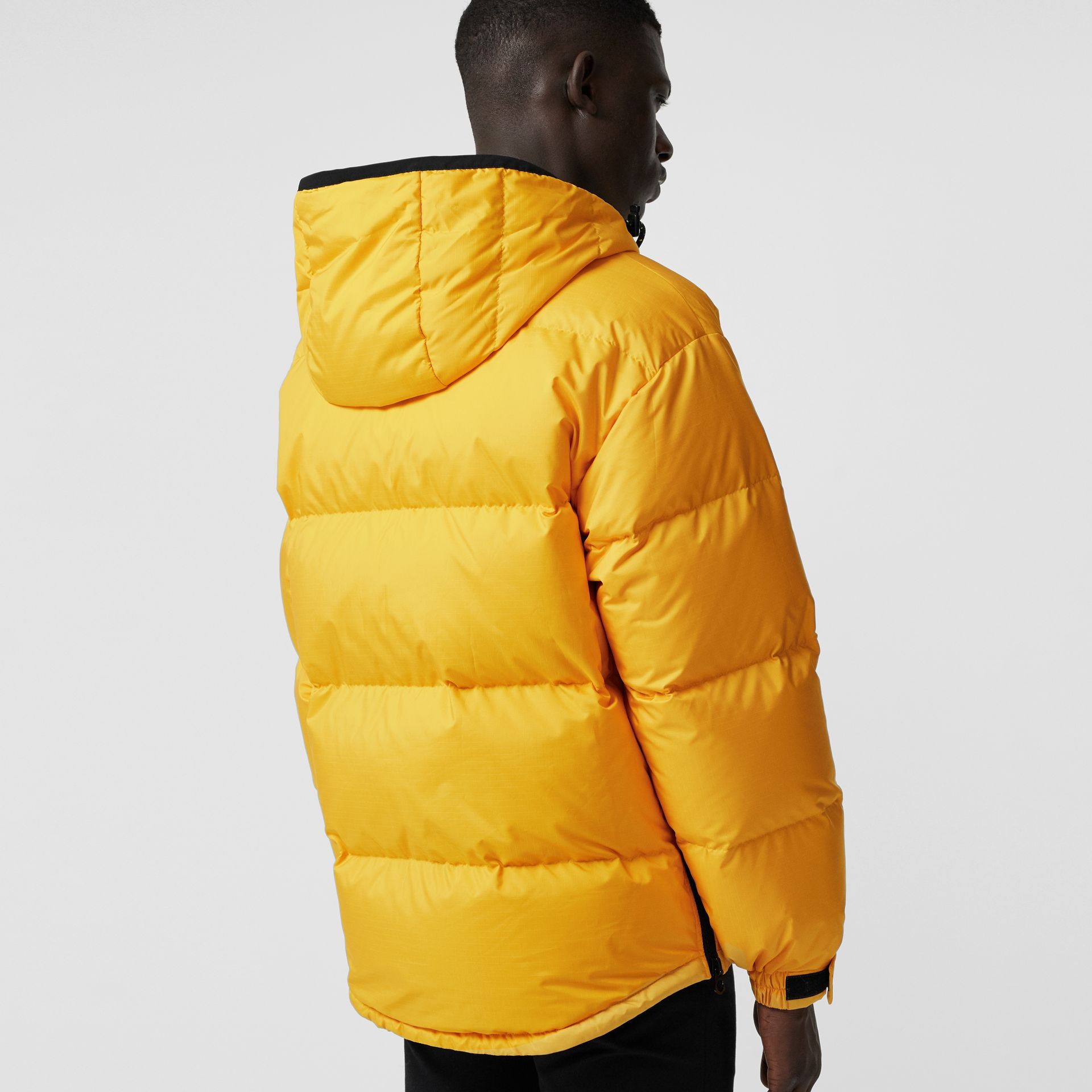 Down-filled Anorak with Detachable Mittens in Bright Yellow - Men | Burberry - gallery image 2