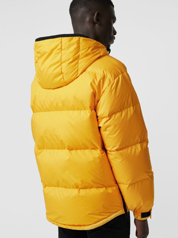 Down-filled Anorak with Detachable Mittens in Bright Yellow - Men | Burberry United Kingdom - cell image 2
