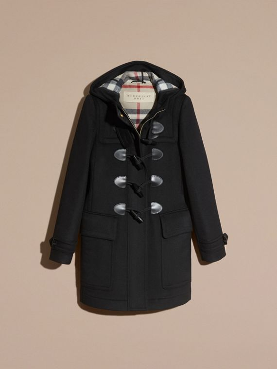 Black Straight Fit Duffle Coat Black - cell image 3