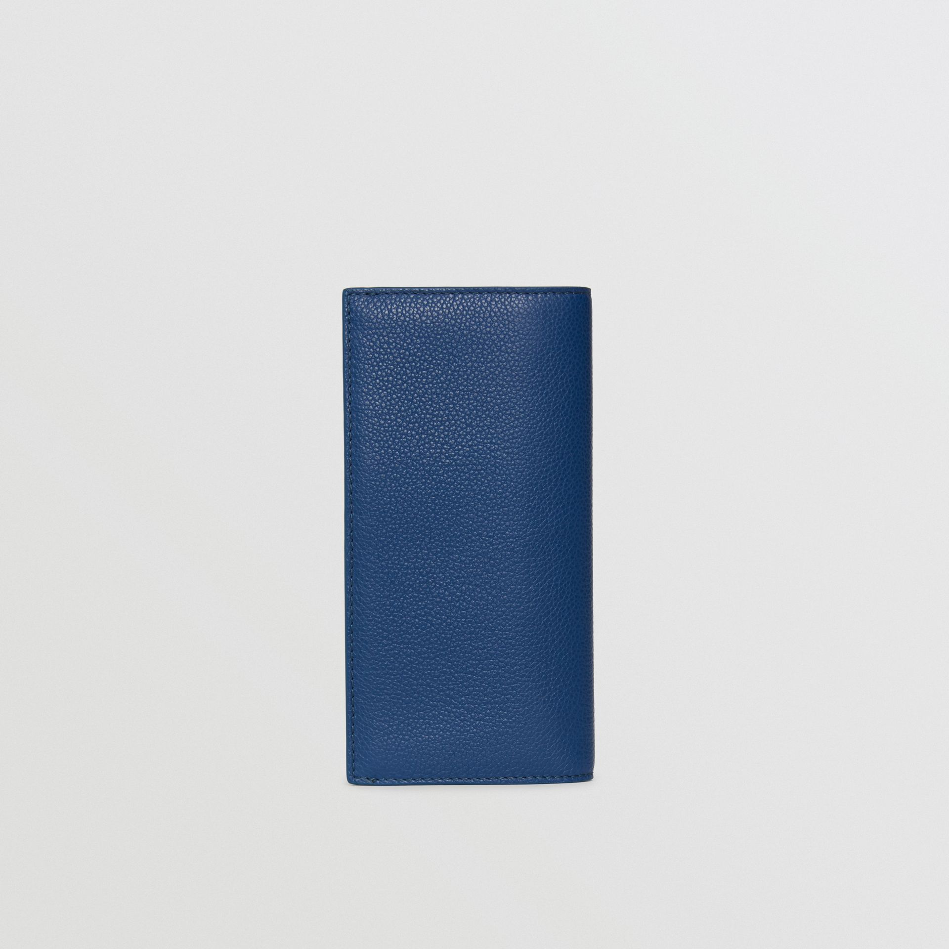 Grainy Leather Continental Wallet in Bright Ultramarine - Men | Burberry United States - gallery image 5