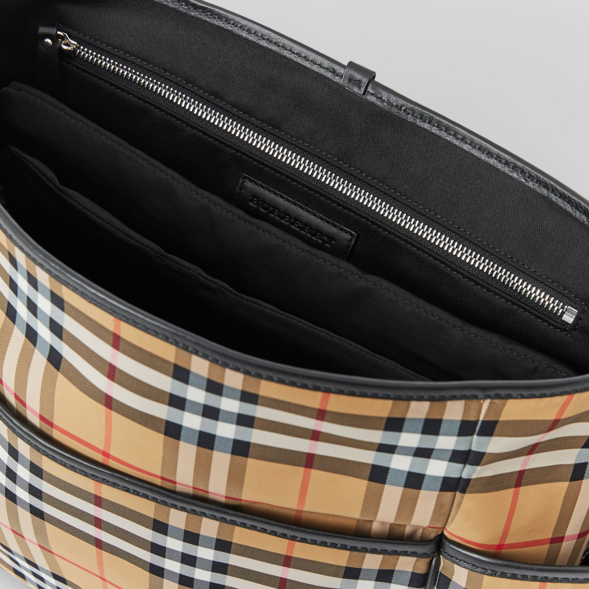 Vintage Check Baby Changing Shoulder Bag in Antique Yellow/black - Children | Burberry Australia - gallery image 3