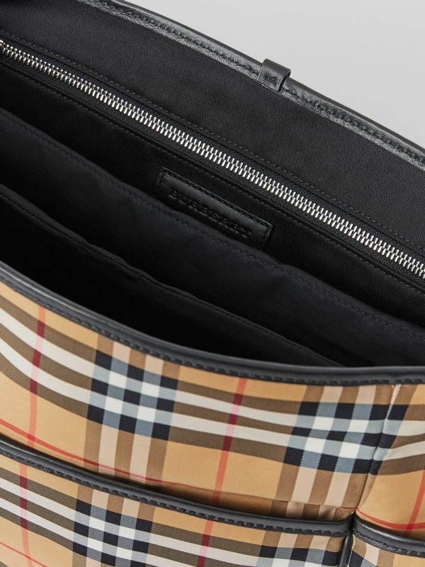 Vintage Check Baby Changing Shoulder Bag in Antique Yellow/black - Children | Burberry Australia - cell image 3