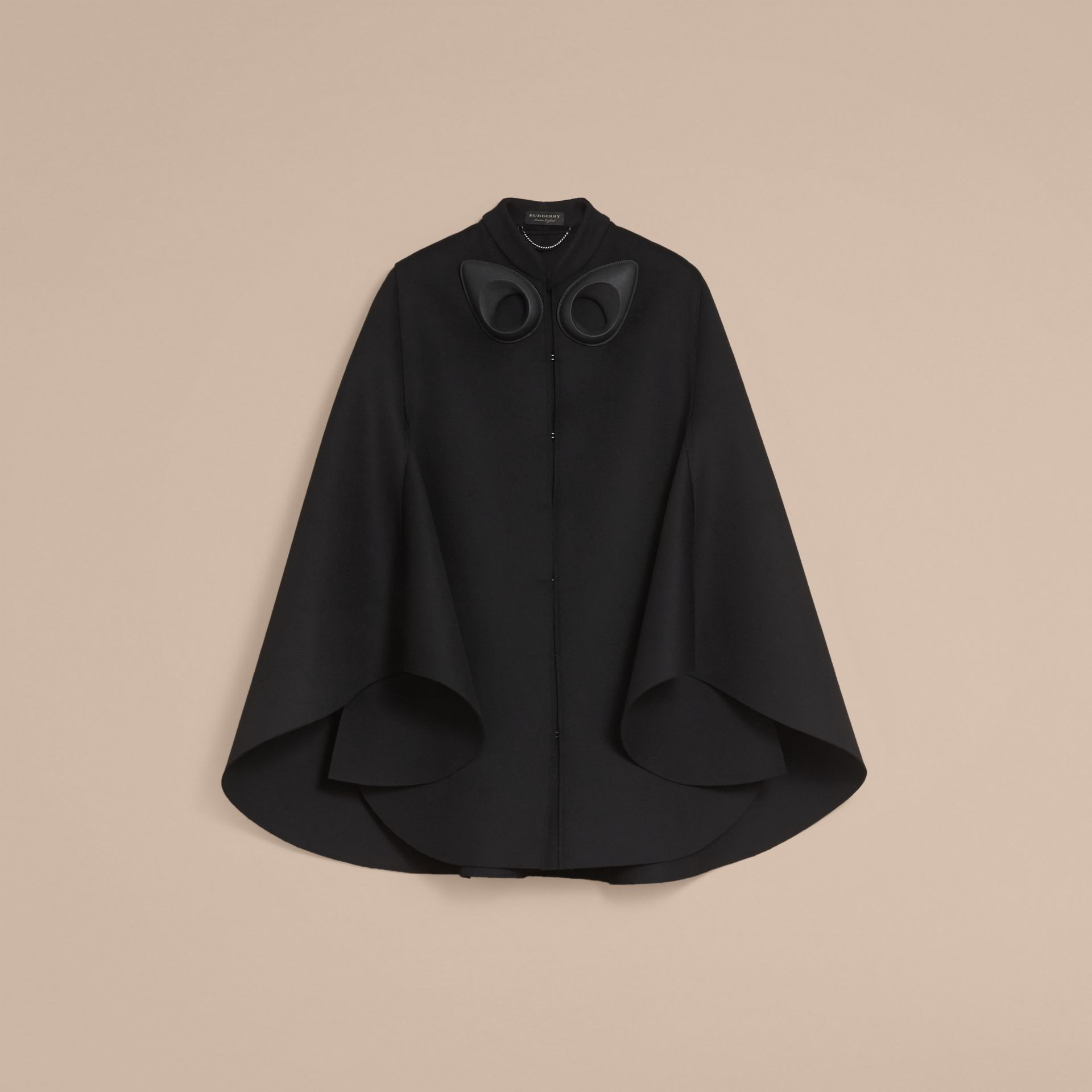 Double-faced Military Wool Cape - gallery image 4