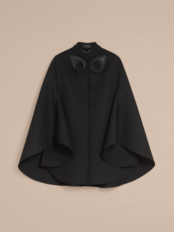 Double-faced Military Wool Cape - Women | Burberry Australia - cell image 3
