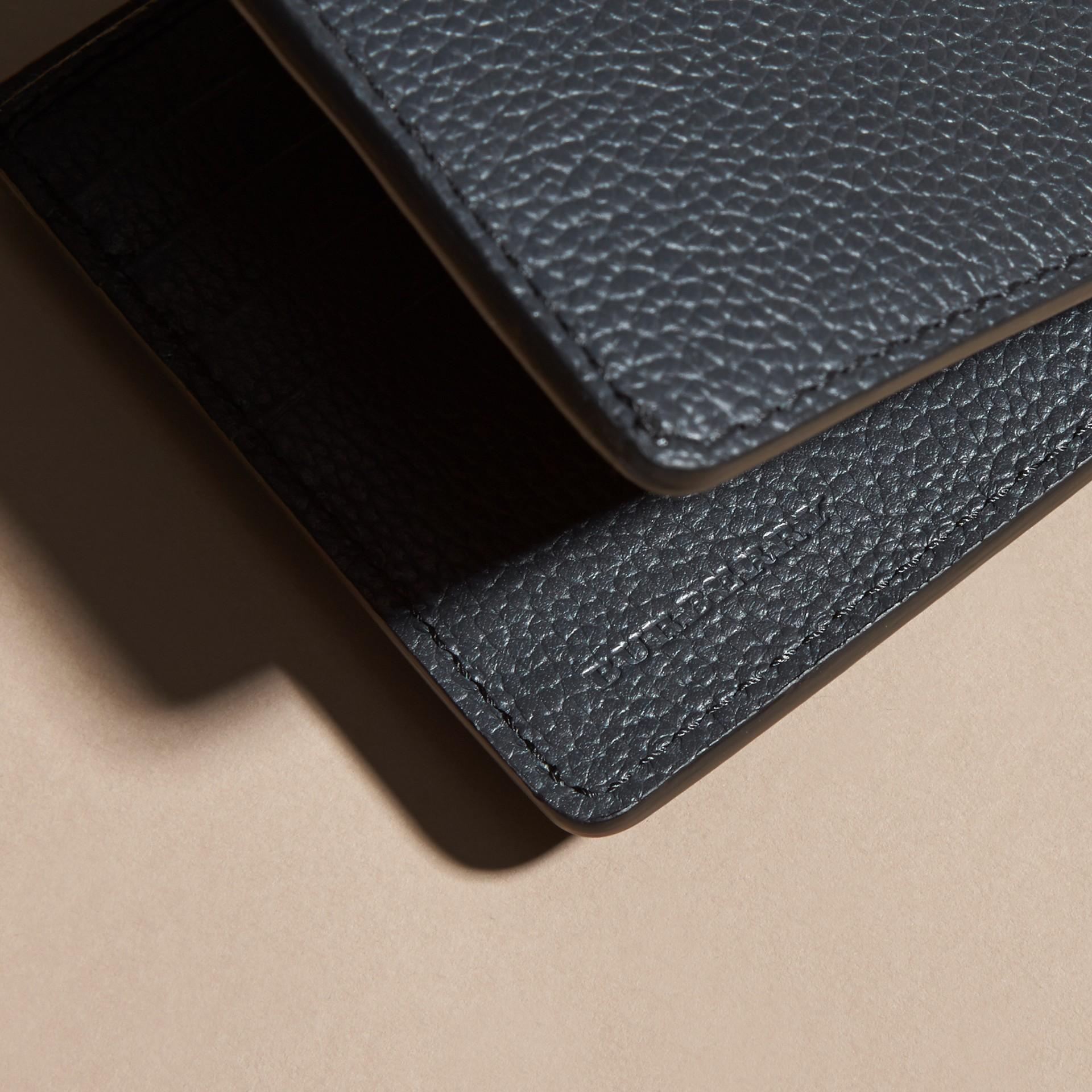 Dunkles zinnblau Faltbrieftasche aus Leder Dunkles Zinnblau - Galerie-Bild 2