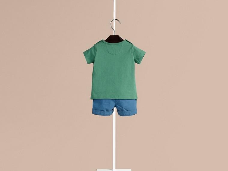 Sturmgrün Baumwoll-T-Shirt mit Gepardmotiv Sturmgrün - cell image 1