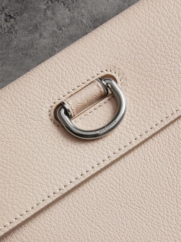 D-ring Leather Pouch with Zip Coin Case in Stone - Women | Burberry - cell image 1