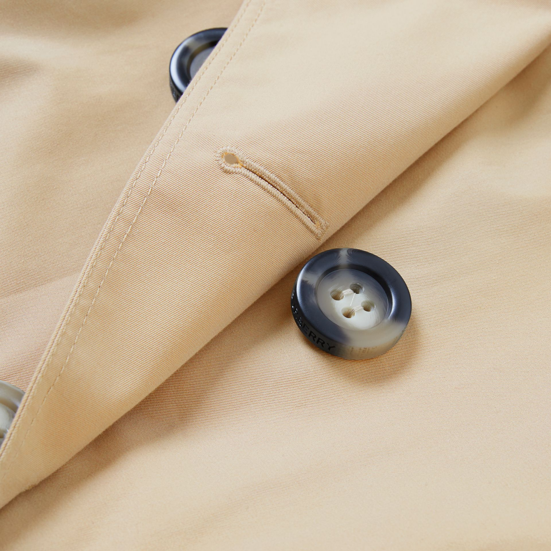 Cotton Gabardine Trench Cape in Honey | Burberry - gallery image 1