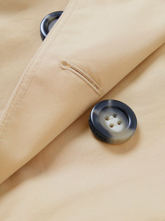 Cotton Gabardine Trench Cape in Honey | Burberry - cell image 1