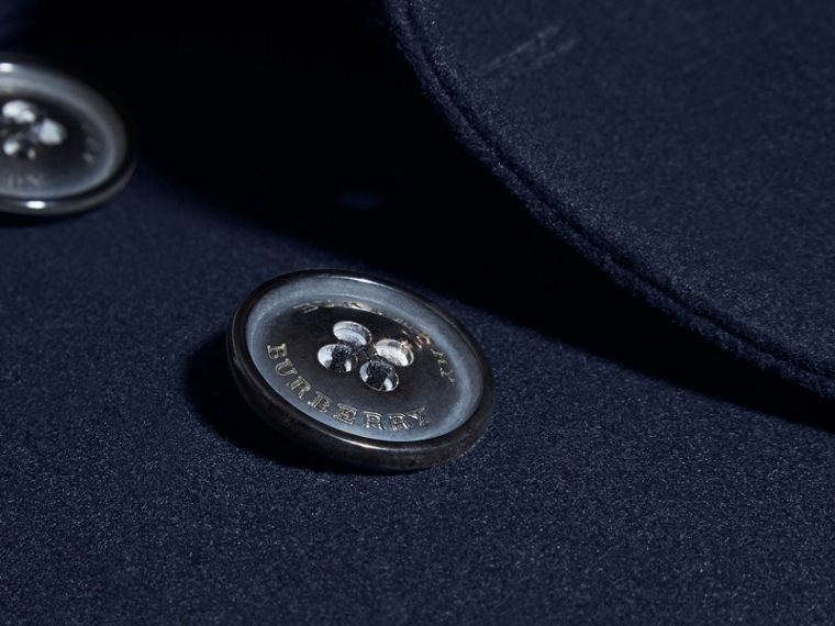 Wool Cashmere Pea Coat in Navy - cell image 1