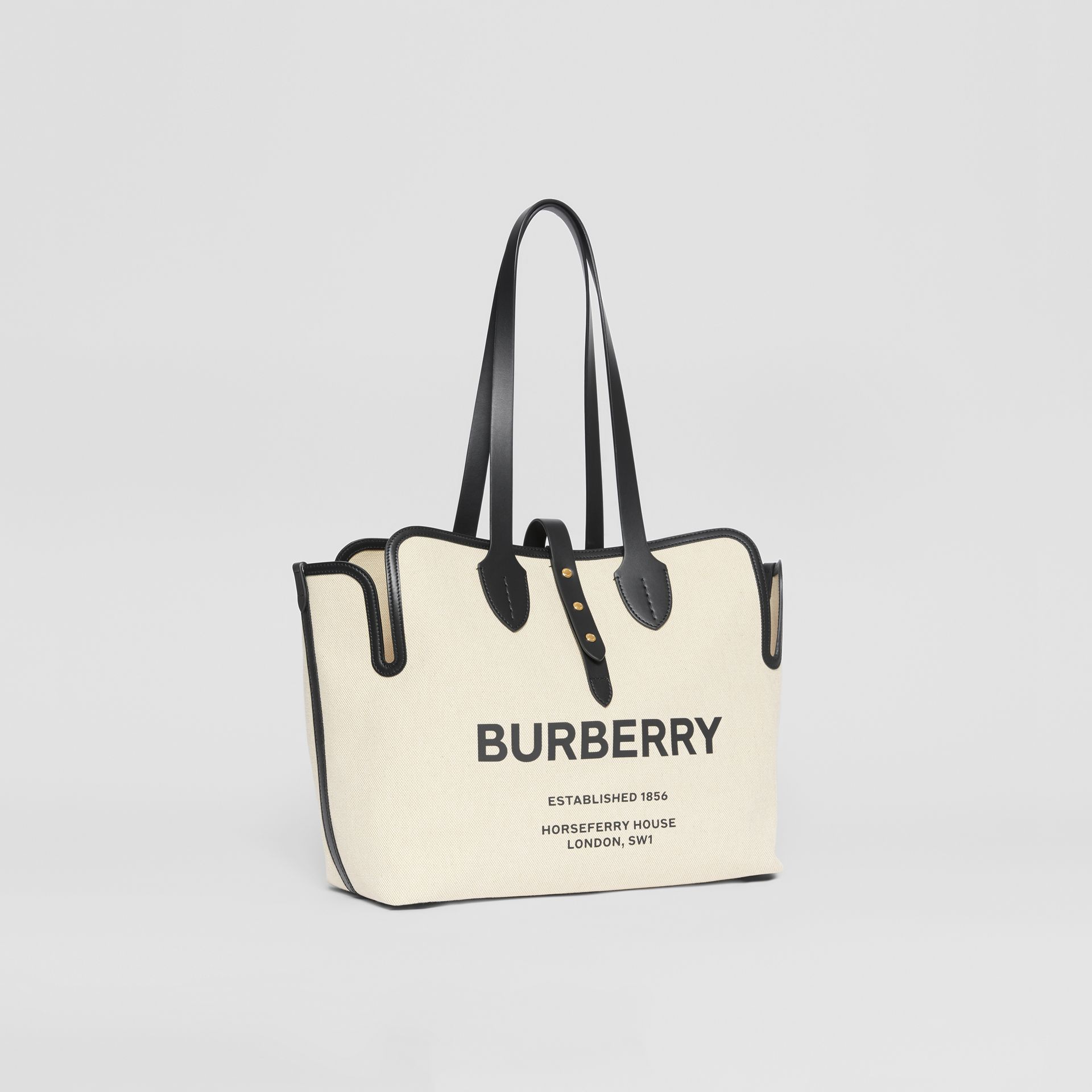 The Medium Soft Cotton Canvas Belt Bag in Black | Burberry Canada - gallery image 5