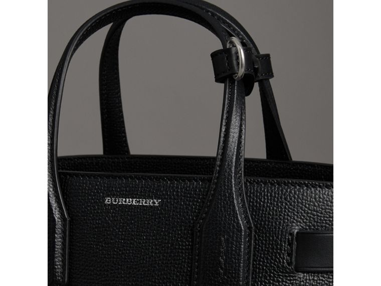 The Small Banner in Leather in Black - Women | Burberry Singapore - cell image 1