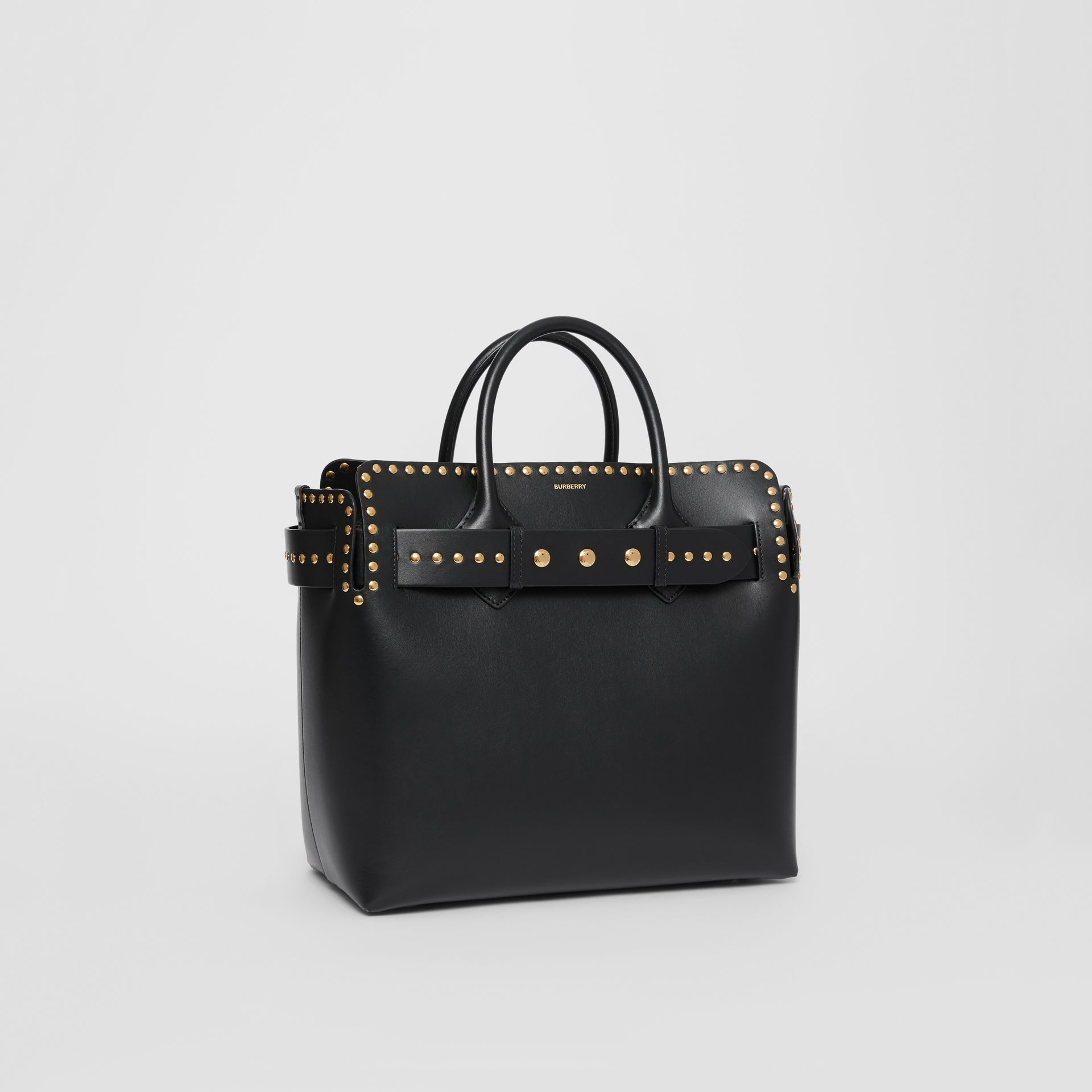 The Medium Studded Leather Triple Stud Belt Bag in Black - Women | Burberry Australia - gallery image 6