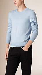 Crew Neck Merino Wool Sweater