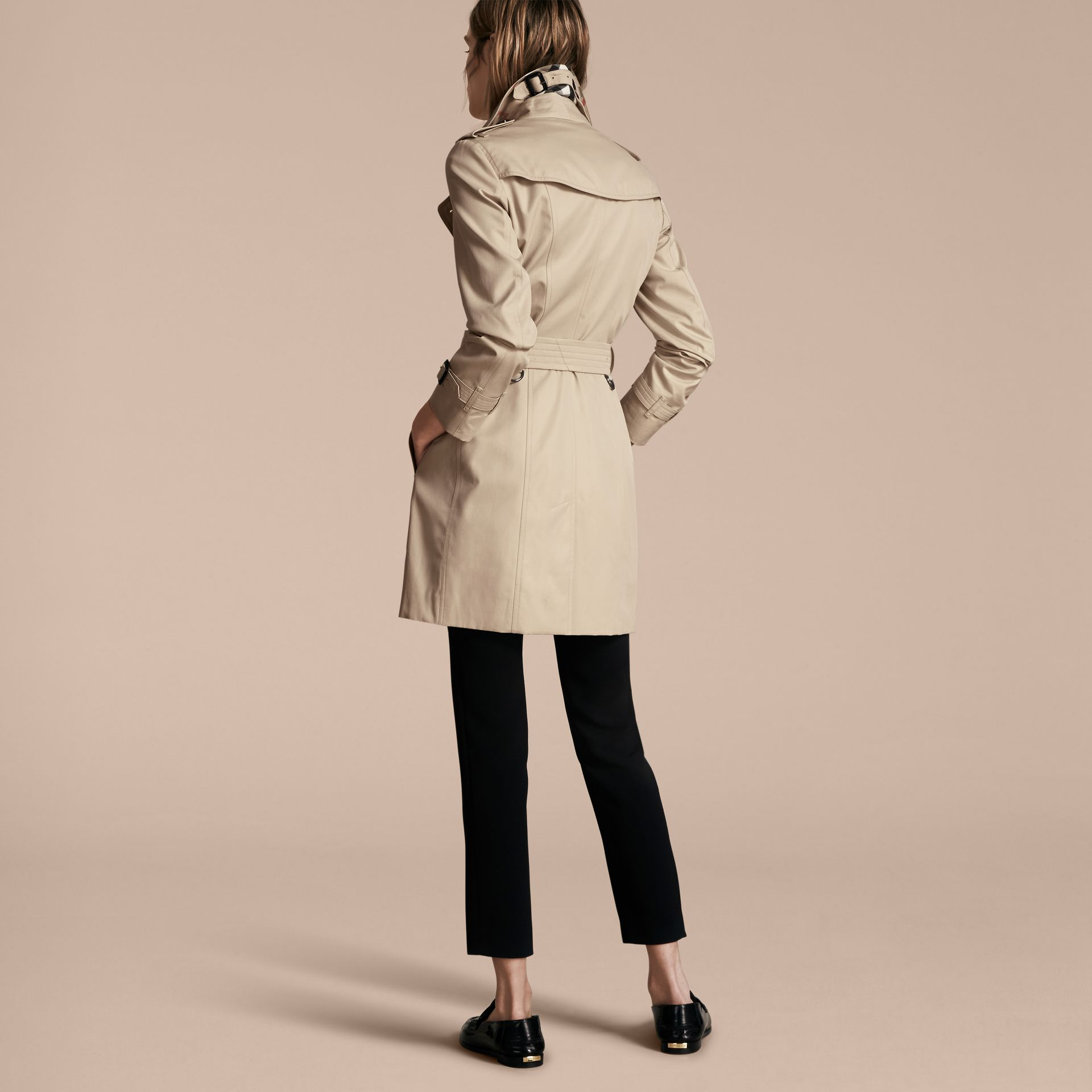 Stone The Sandringham – Mid-Length Heritage Trench Coat Stone - gallery image 3