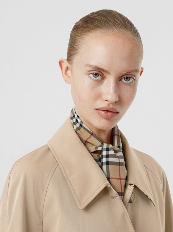 Side-slit Tropical Gabardine Trench Coat in Light Taupe - Women | Burberry United Kingdom - cell image 1