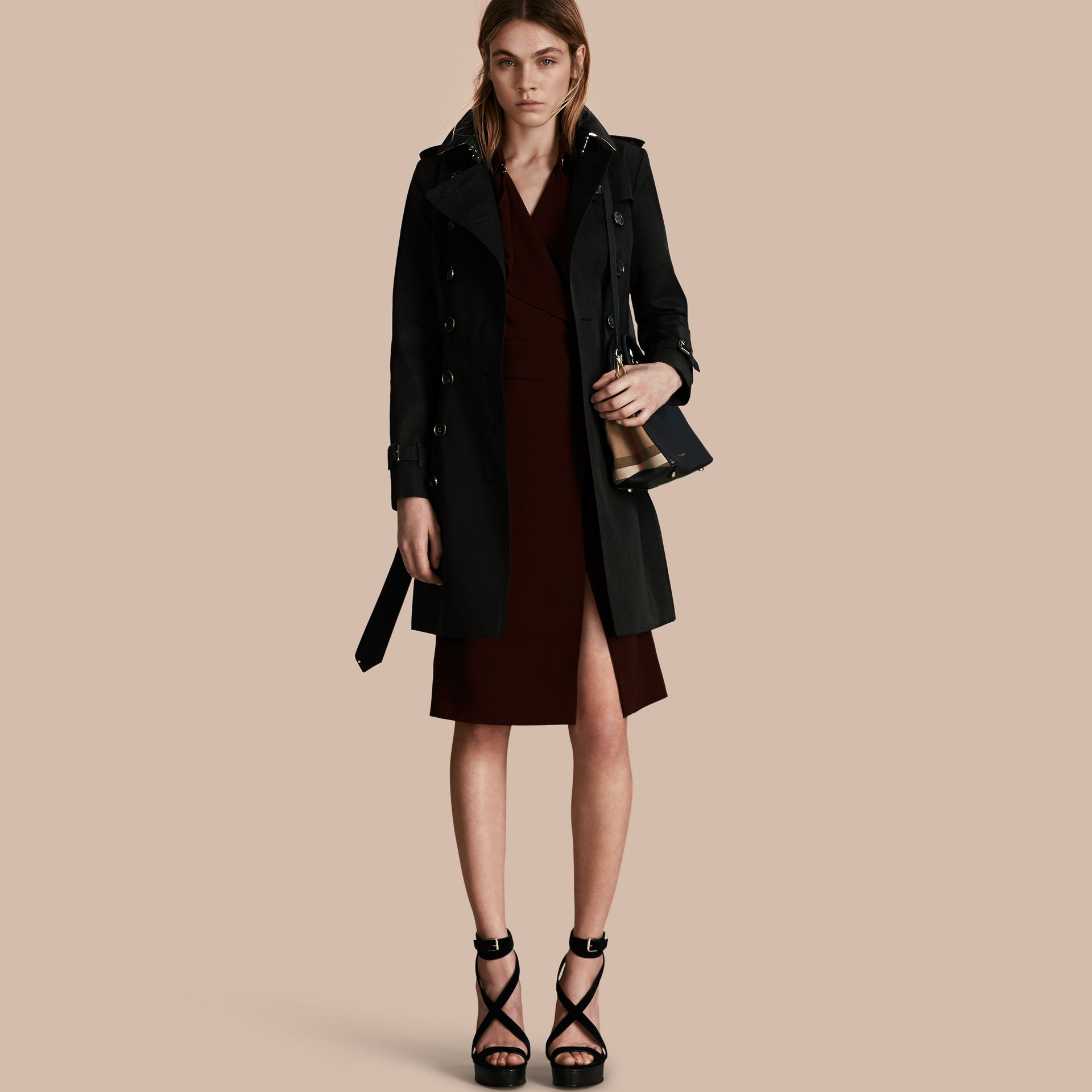 Black The Chelsea – Mid-length Heritage Trench Coat Black - gallery image 1