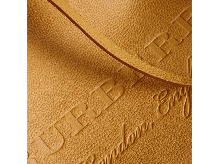 Embossed Leather Tote in Ochre Yellow | Burberry Hong Kong - cell image 1