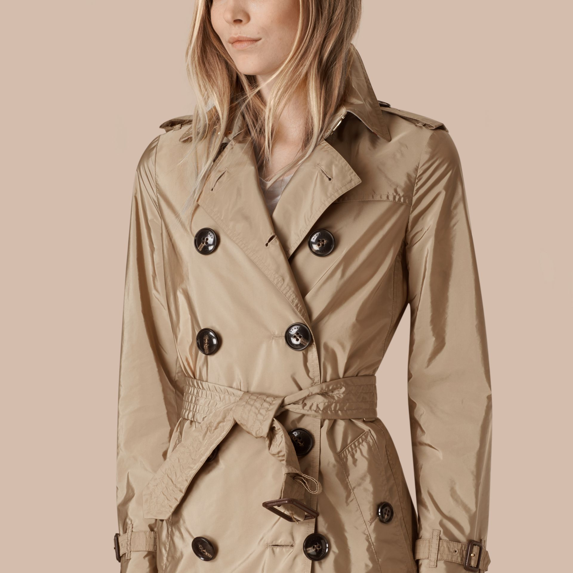 Sisal Lightweight Trench Coat Sisal - gallery image 5