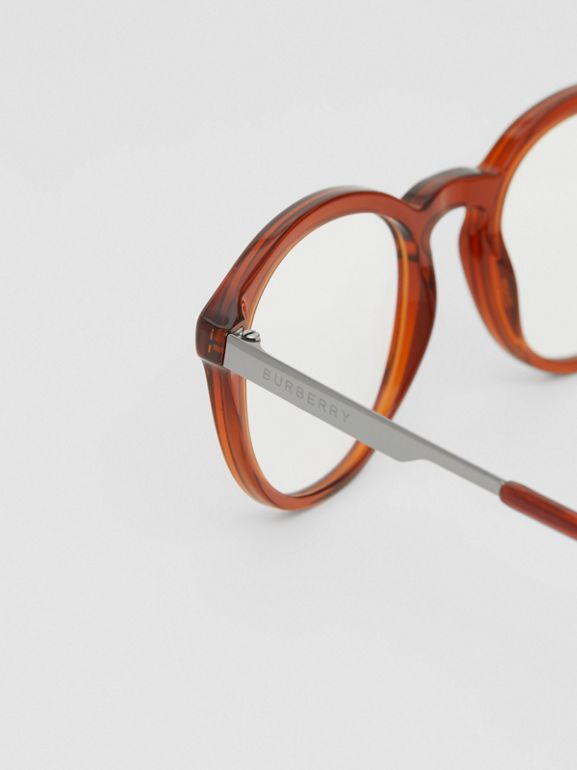 Round Optical Frames in Amber - Men | Burberry - cell image 1