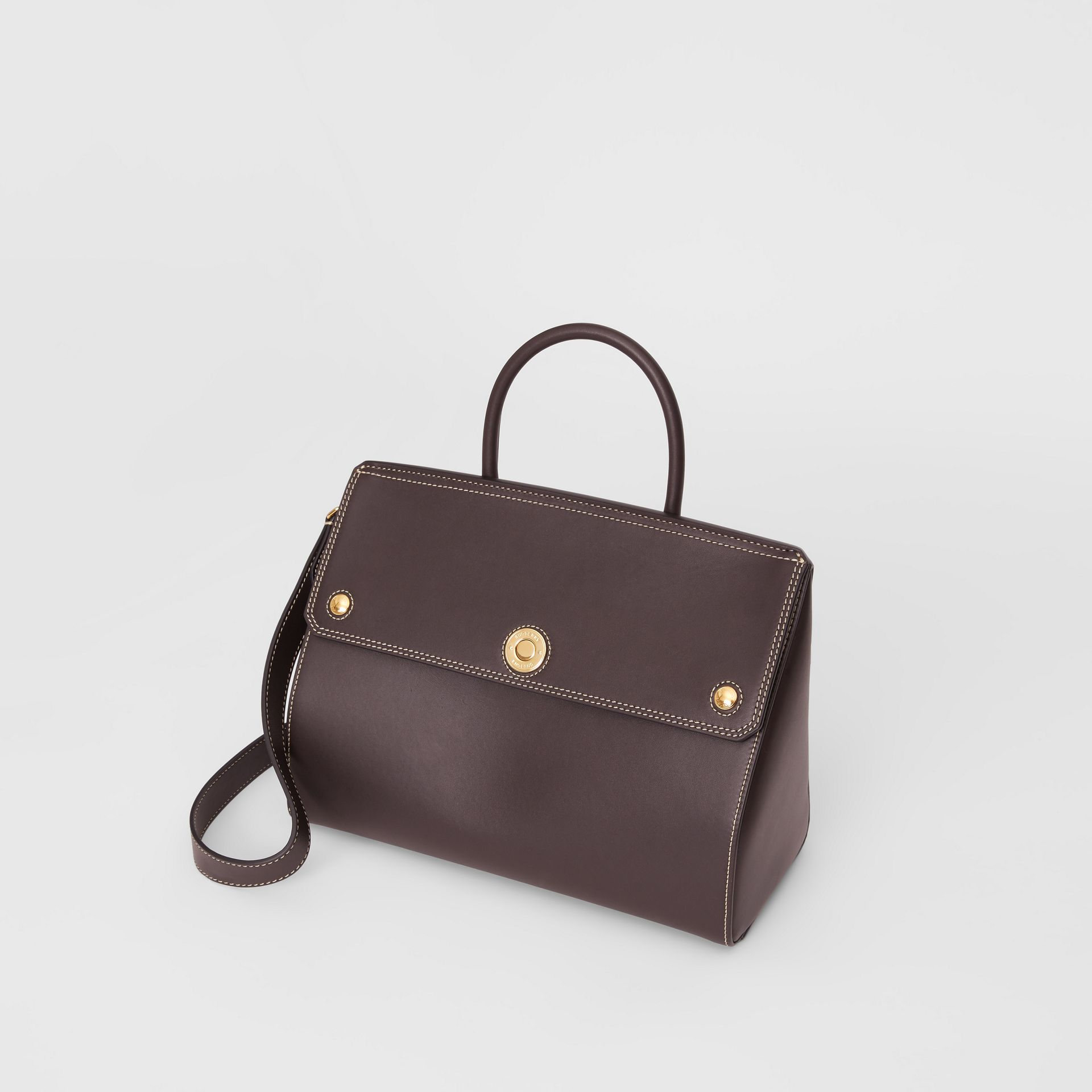 Small Leather Elizabeth Bag in Coffee - Women | Burberry United Kingdom - gallery image 3