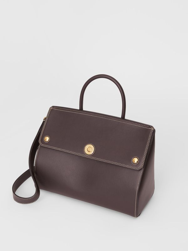 Small Leather Elizabeth Bag in Coffee - Women | Burberry - cell image 3