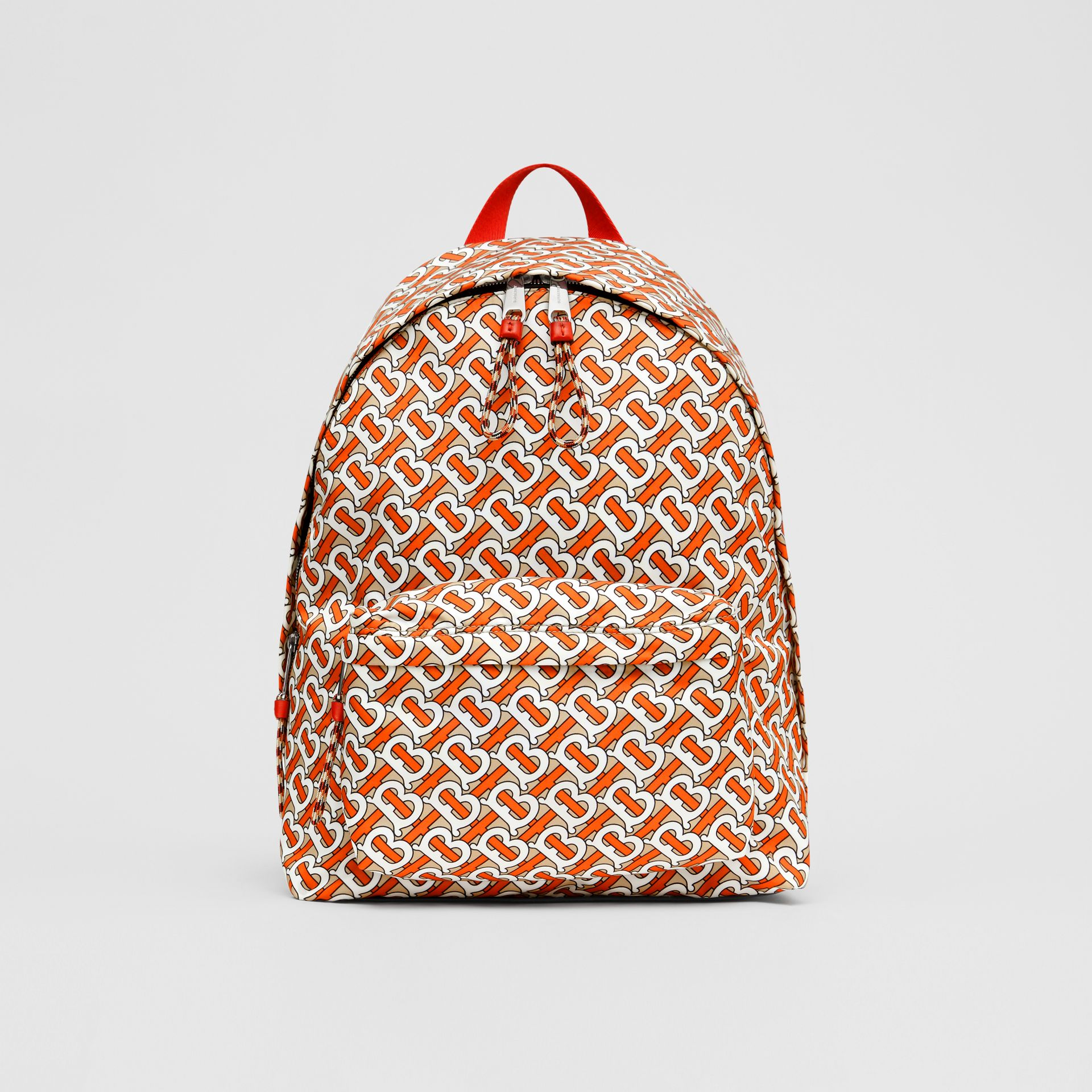 Monogram Print Nylon Backpack in Vermillion | Burberry - gallery image 0