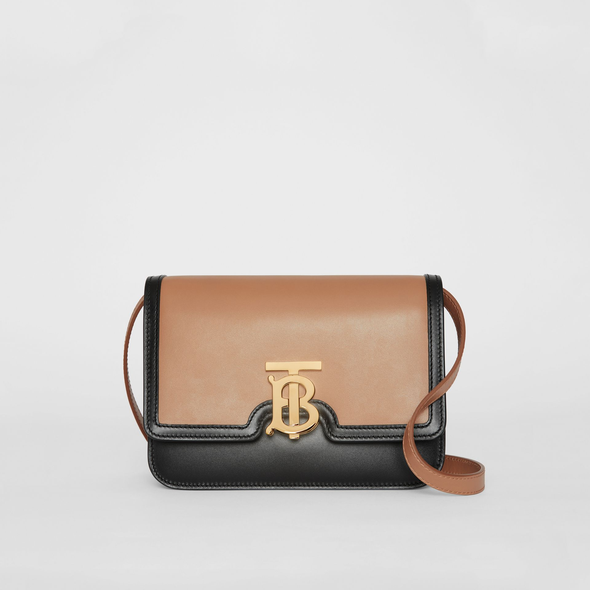 Small Leather TB Bag in Light Camel/black - Women | Burberry - gallery image 0