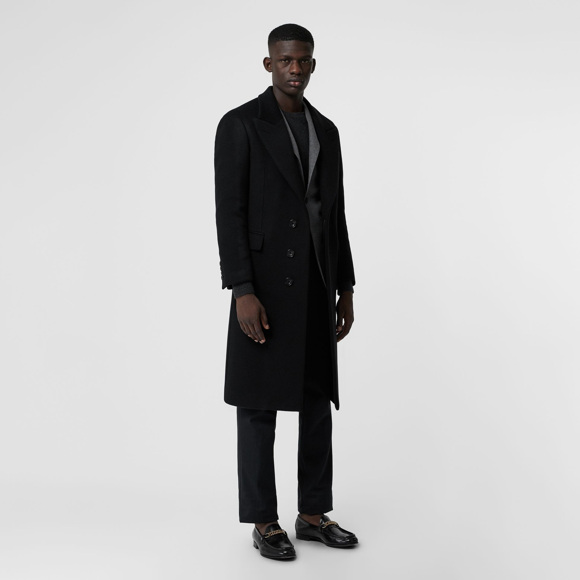 Double-faced Cashmere Tailored Coat in Black - Men | Burberry Australia - gallery image 0