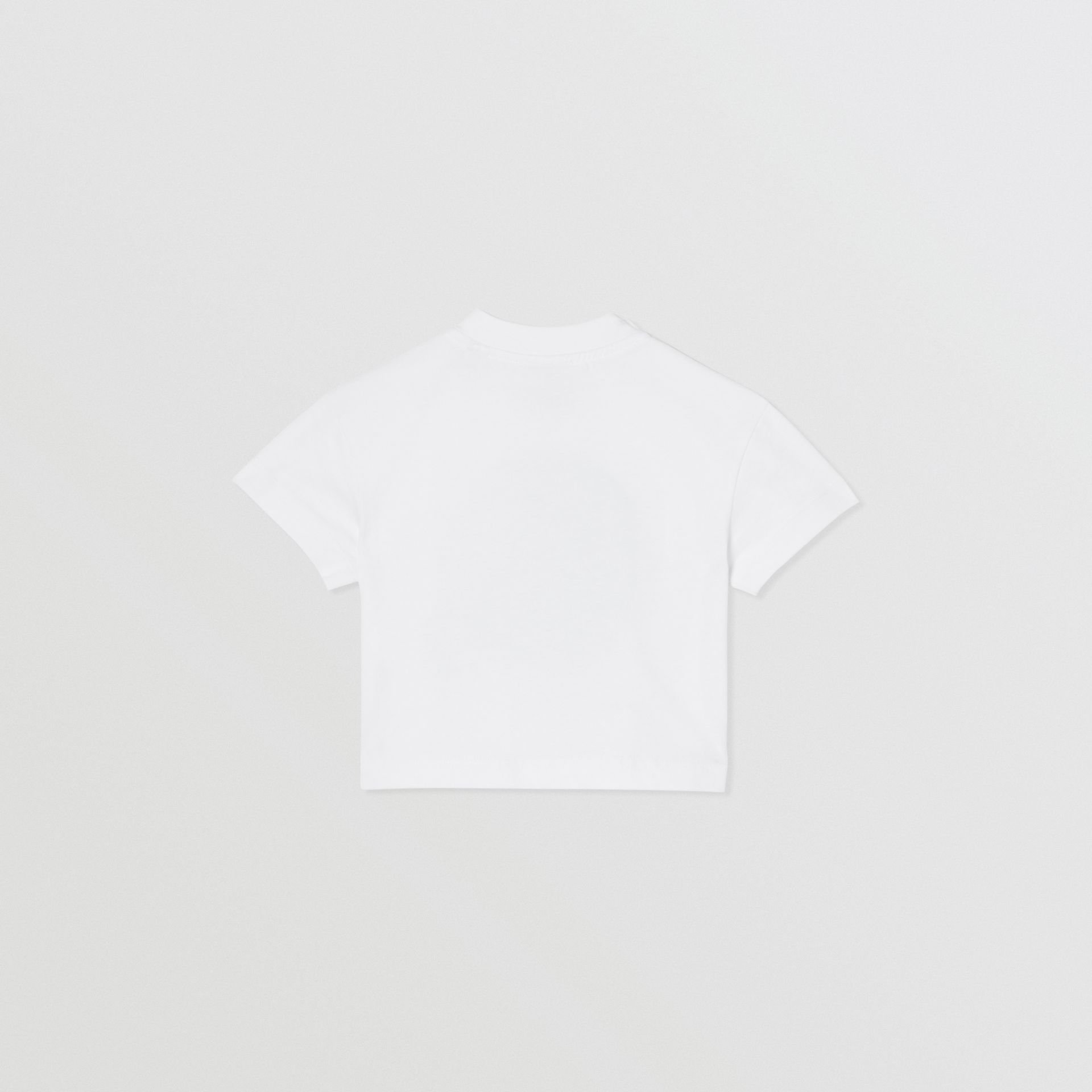Moon Print Cotton T-shirt in White - Children | Burberry - gallery image 4