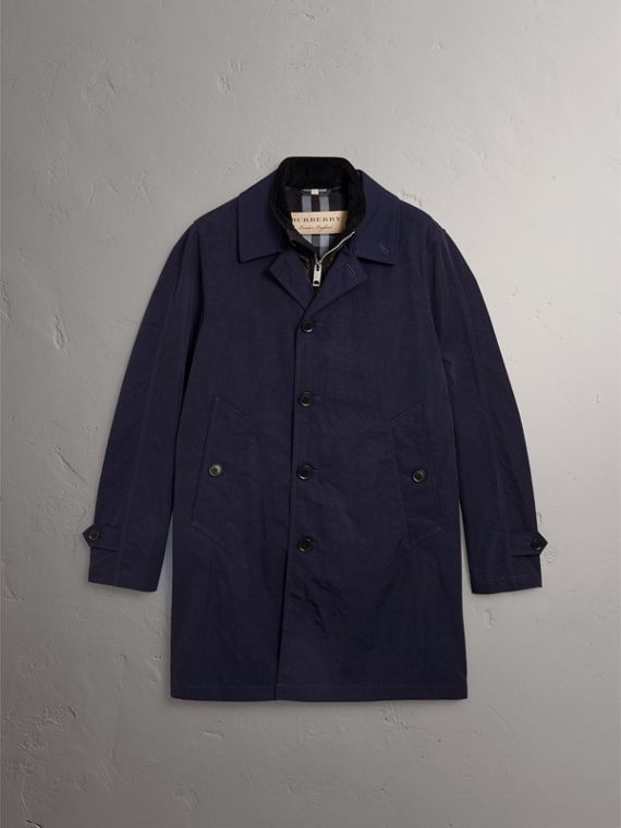 Car Coat with Detachable Down-filled Gilet in Ink Blue - Men | Burberry - cell image 3
