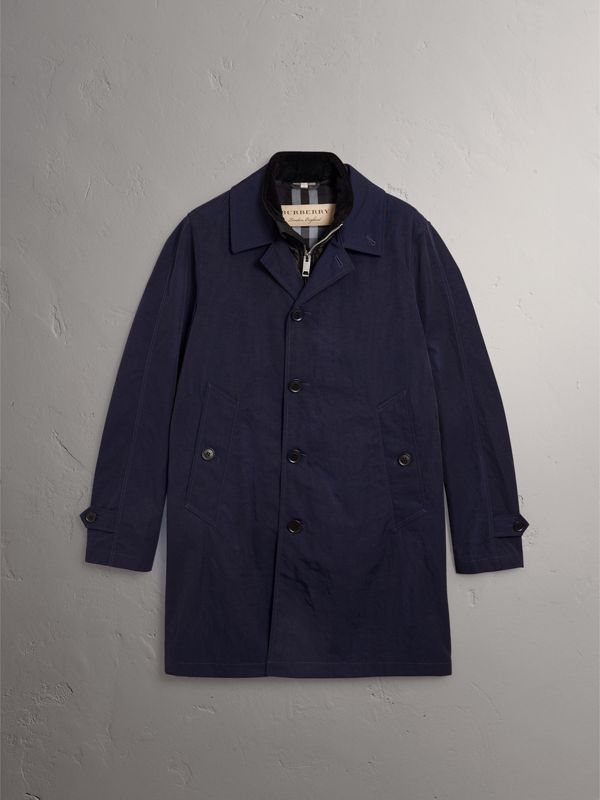 Car Coat with Detachable Down-filled Gilet in Ink Blue - Men | Burberry United Kingdom - cell image 3