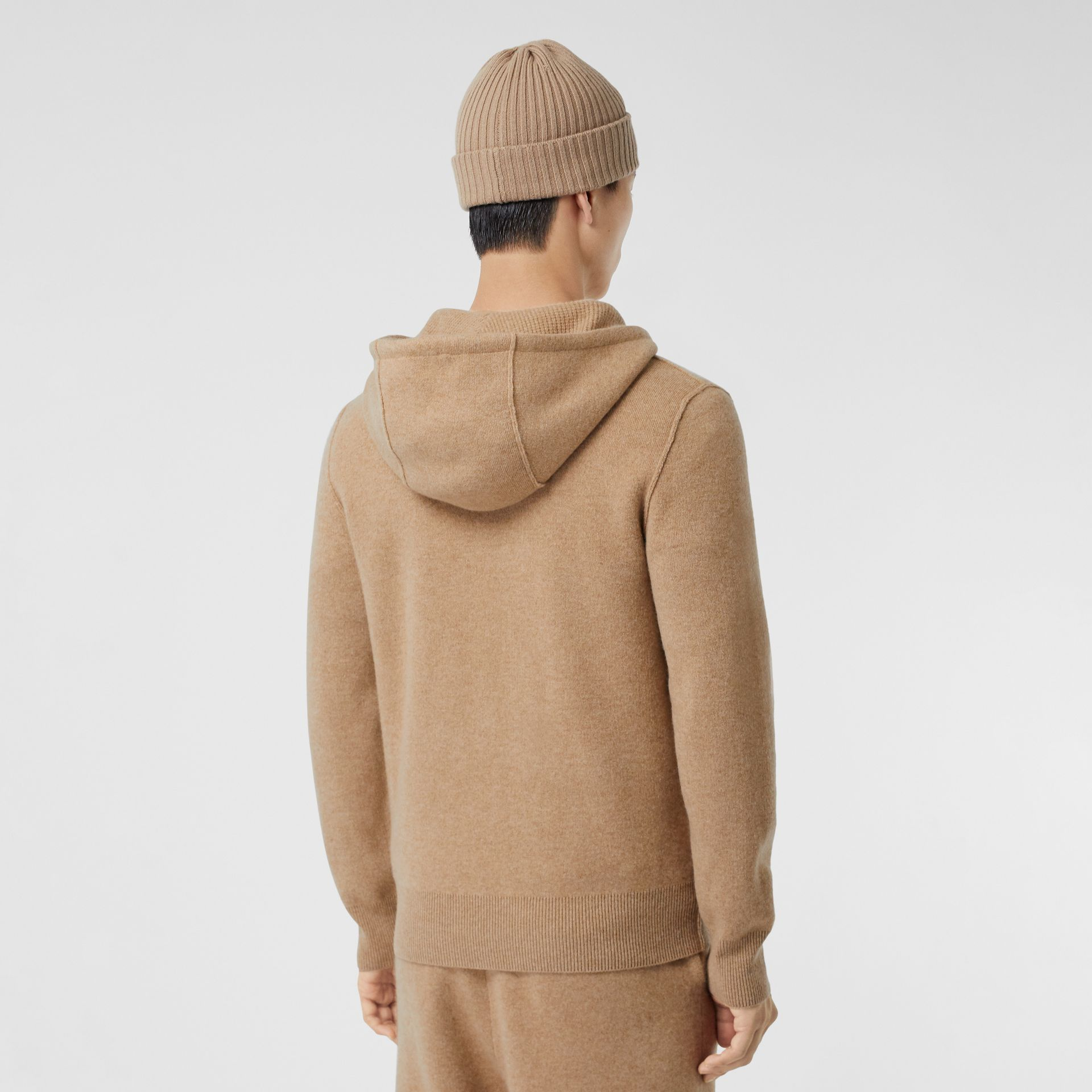 Monogram Motif Cashmere Blend Hooded Top in Pale Coffee - Men | Burberry Hong Kong S.A.R - gallery image 2