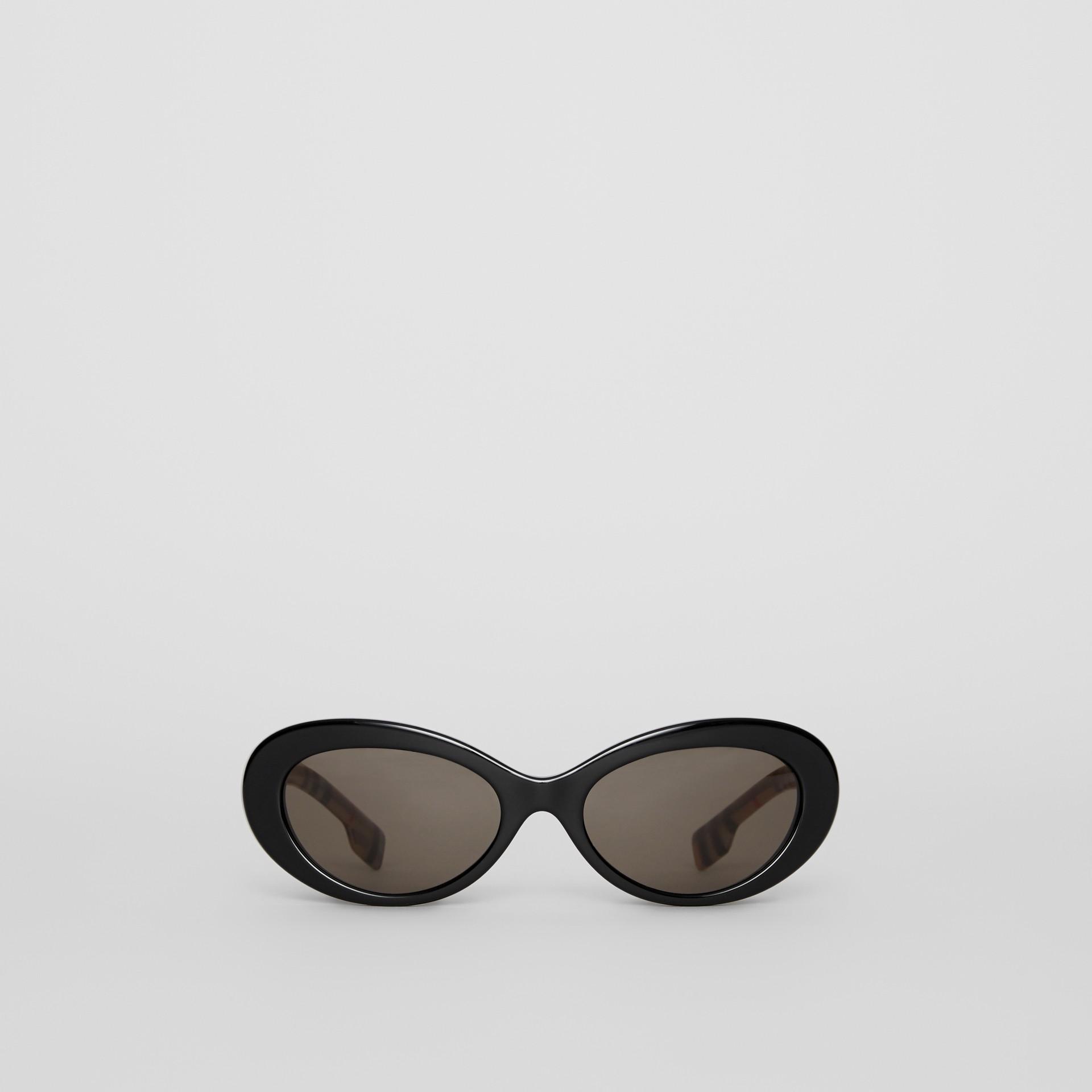 Cat-Eye-Sonnenbrille mit Vintage Check-Detail (Schwarz) - Damen | Burberry - Galerie-Bild 0