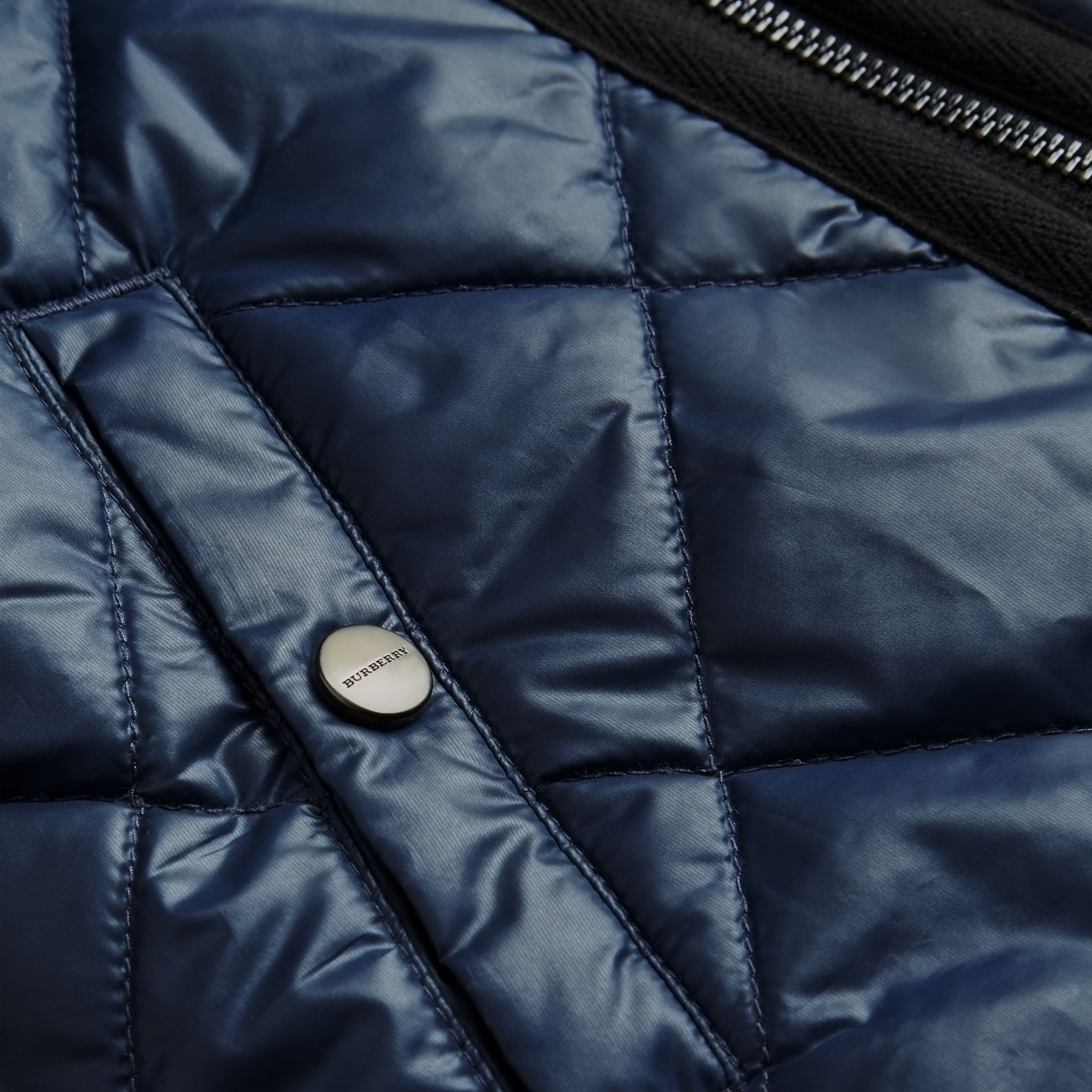 Showerproof Diamond Quilted Jacket in Navy | Burberry - gallery image 1