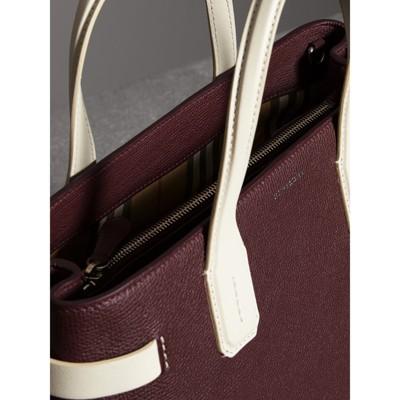 Burberry - Sac TheBanner moyen en cuir bicolore - 6